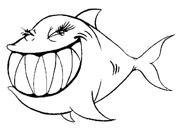 Pesce d aprile for Disegno squalo